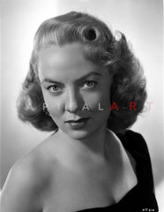 Audrey Totter Posed in White Gown with Silver Necklace Premium Art Print