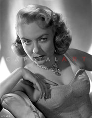 Audrey Totter Portrait in See Through Dress Premium Art Print
