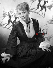 Audrey Totter Lying with Left Hand on Head Premium Art Print