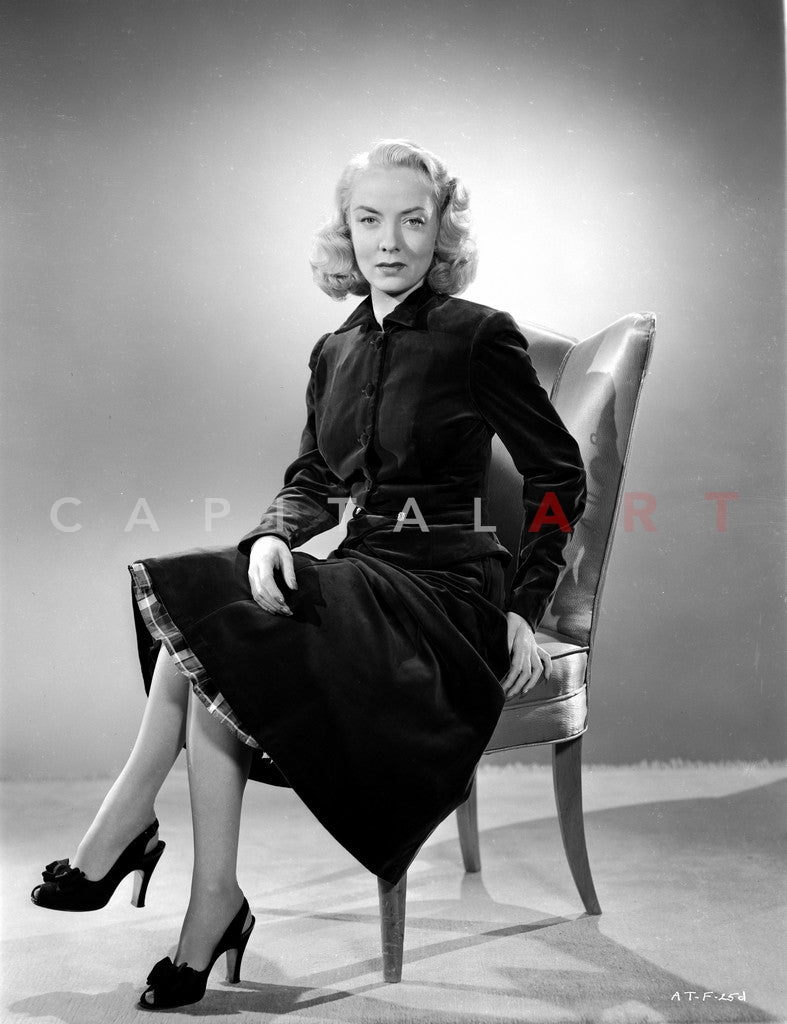 Audrey Totter Seated in Classic Premium Art Print