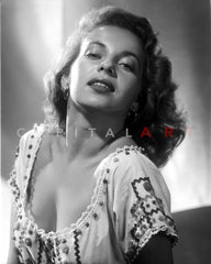 Abbe Lane Posed While Holding up Her Hair in Classic Portrait Premium Art Print
