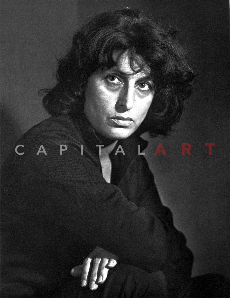 Anna Magnani Looking and Facing to the right Premium Art Print