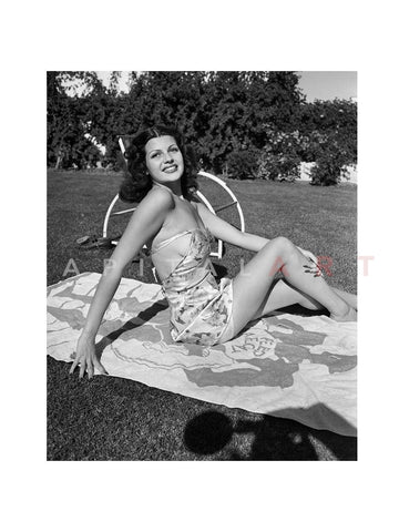 Rita Hayworth Sunbathing 1939