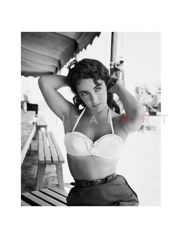 Elizabeth Taylor with Hands Behind Head 1955