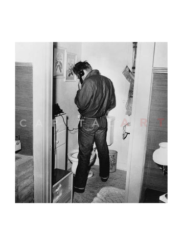 James Dean in Restroom 1954