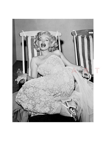 Marilyn Monroe in Deckchair 1955