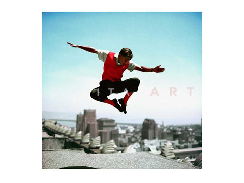Sammy Davis Jr Jumping Color 1959