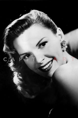Portrait of Judy Garland with Black Background Premium Art Print