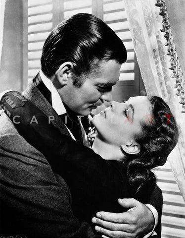 Gone With The Wind Kissing Scene Premium Art Print