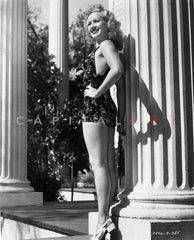 Betty Grable Posed in Sexy Tube Premium Art Print