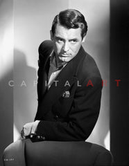 362fe05f83448 Portrait of Cary Grant in Fedora Premium Art Print – Celebrity Vault