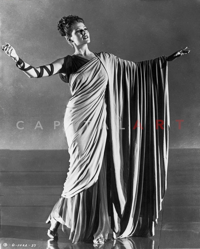 Rita Hayworth Pose in Roman Gown Premium Art Print – Celebrity Vault