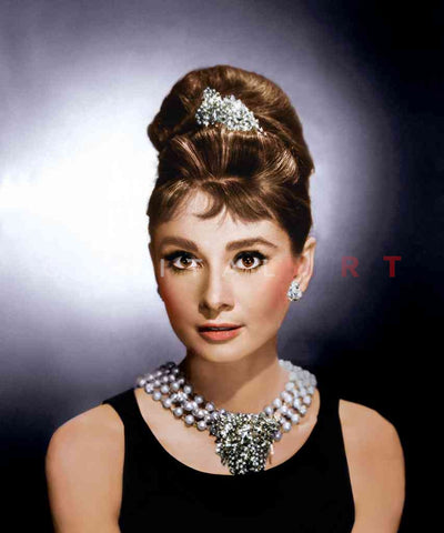 Audrey Hepburn Portrait, Breakfast at Tiffany's, 1961 Fully Colorized Master Print