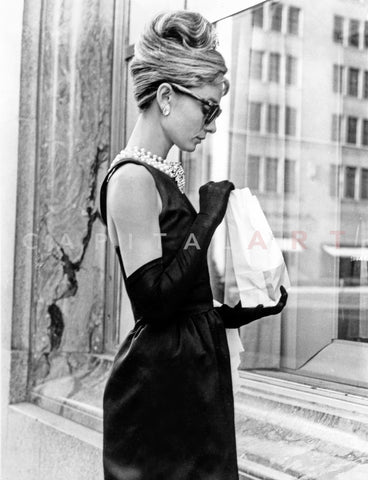 Audrey Hepburn Breakfast at Tiffany's Iconic Shot Premium Art Print