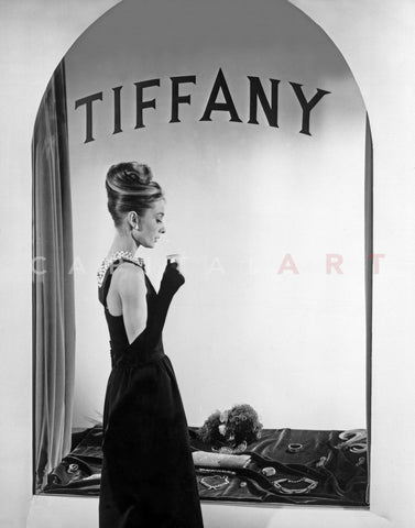 Audrey Hepburn Publicity Still in Front of Tiffany's Window Premium Art Print