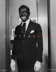 Al Jolson sitting while Giving A Big Smile Premium Art Print