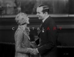 Al Jolson Hitting on the Woman in White Dress in a Classic Movie Scene Premium Art Print