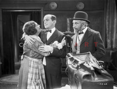 Al Jolson Talking with a Bearded Man on the Place of the Maid Premium Art Print