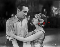 Al Jolson hugging the Maid in a Classic Movie Scene Premium Art Print