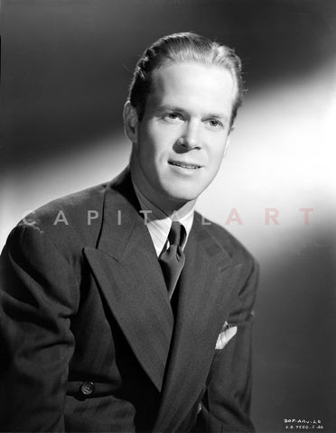 Dan Duryea wearing Black Suit in Black and White Premium Art Print