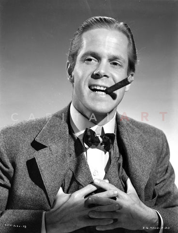 Dan Duryea in Suit With Cigarette Premium Art Print