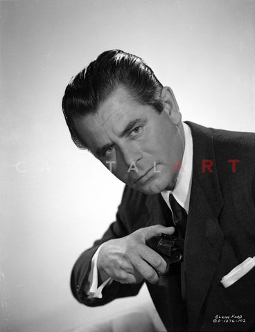 Glenn Ford Posed in Tuxedo Premium Art Print
