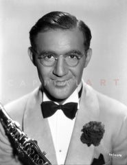 Benny Goodman Performing on Stage Premium Art Print