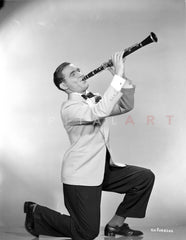 Benny Goodman in White Tuxedo With Trumpet Portrait Premium Art Print