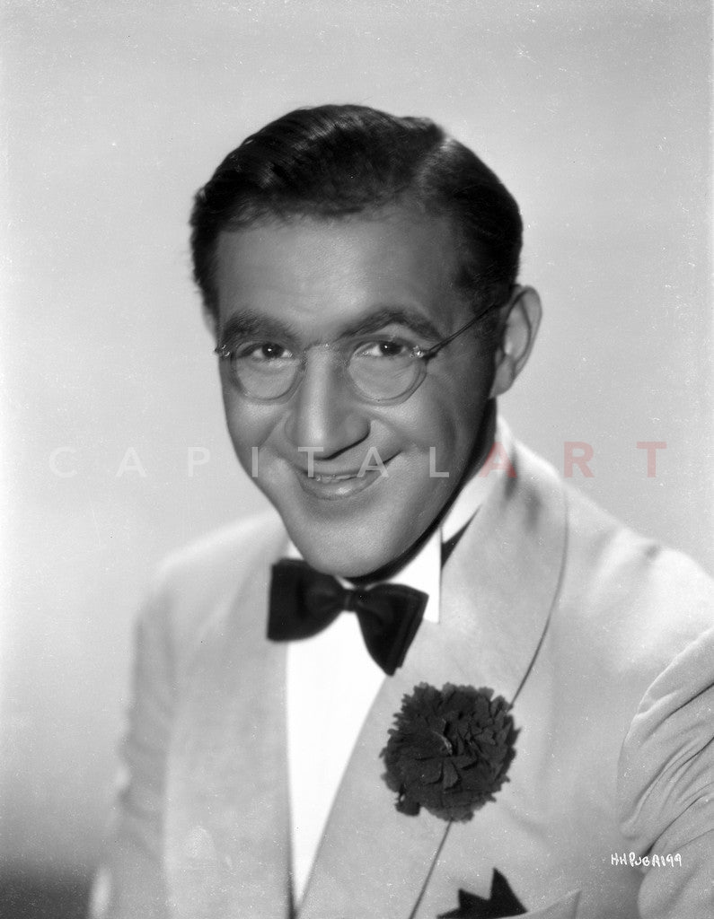 Benny Goodman in White Coat With White Background Premium Art Print