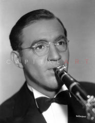 Benny Goodman in Black Coat With Trumpet Premium Art Print