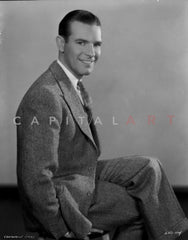 Lawrence Gray in Suit With White Background Premium Art Print