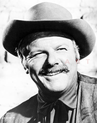 Alan Hale Making a Big Smile in Cowboy Outfit Portrait Premium Art Print