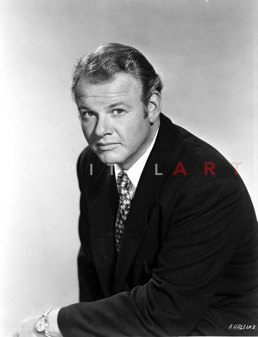 Alan Hale in Black Suit Premium Art Print