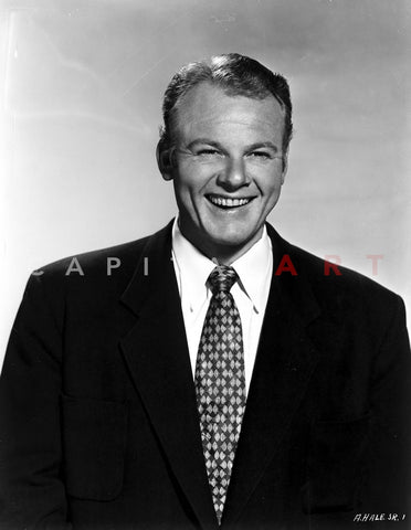 Alan Hale Posed in Black Suit Premium Art Print