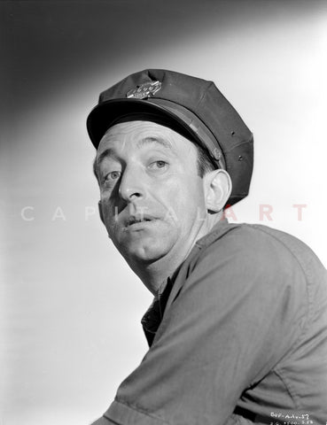 Allen Jenkins Facing Right wearing a Beret in Classic Premium Art Print
