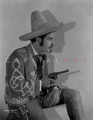 Bert Wheeler posed in Portrait with Hat Premium Art Print