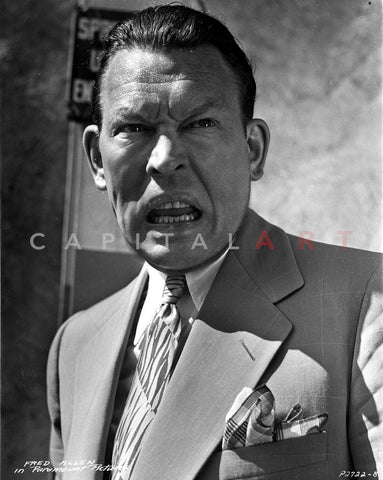 Fred Allen in Angry Face With Black and White Premium Art Print