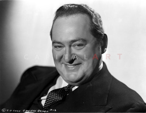 Edward Arnold Posed in Black Suit Premium Art Print