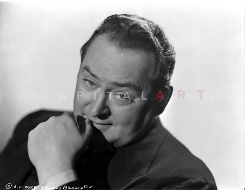 Edward Arnold in Black With White Background Premium Art Print