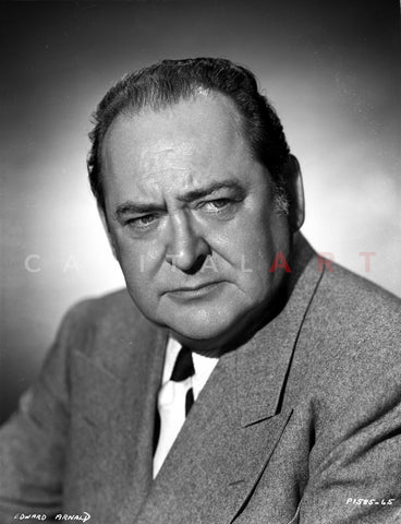 Edward Arnold Posed in Suit Premium Art Print