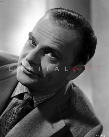 Edgar Bergen Posed in Suit With White and Black background Premium Art Print