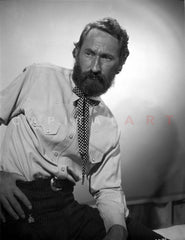 Arthur Hunnicut Posed in Suit With Beard Premium Art Print