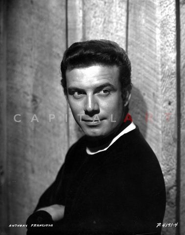 Anthony Franciosa in Black Suite Premium Art Print