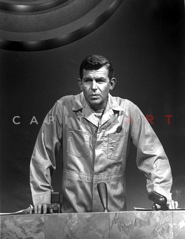 Andy Griffith Posed in Black Suit With Hat Premium Art Print
