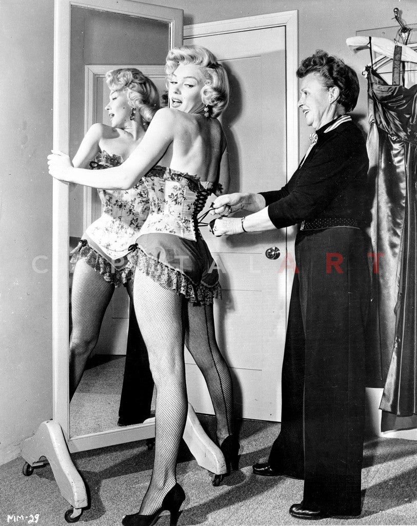 7a91371e86e Marilyn Monroe in Corset Movie Scene from Bus Stop - Photograph High Qua...  Premium Art Print