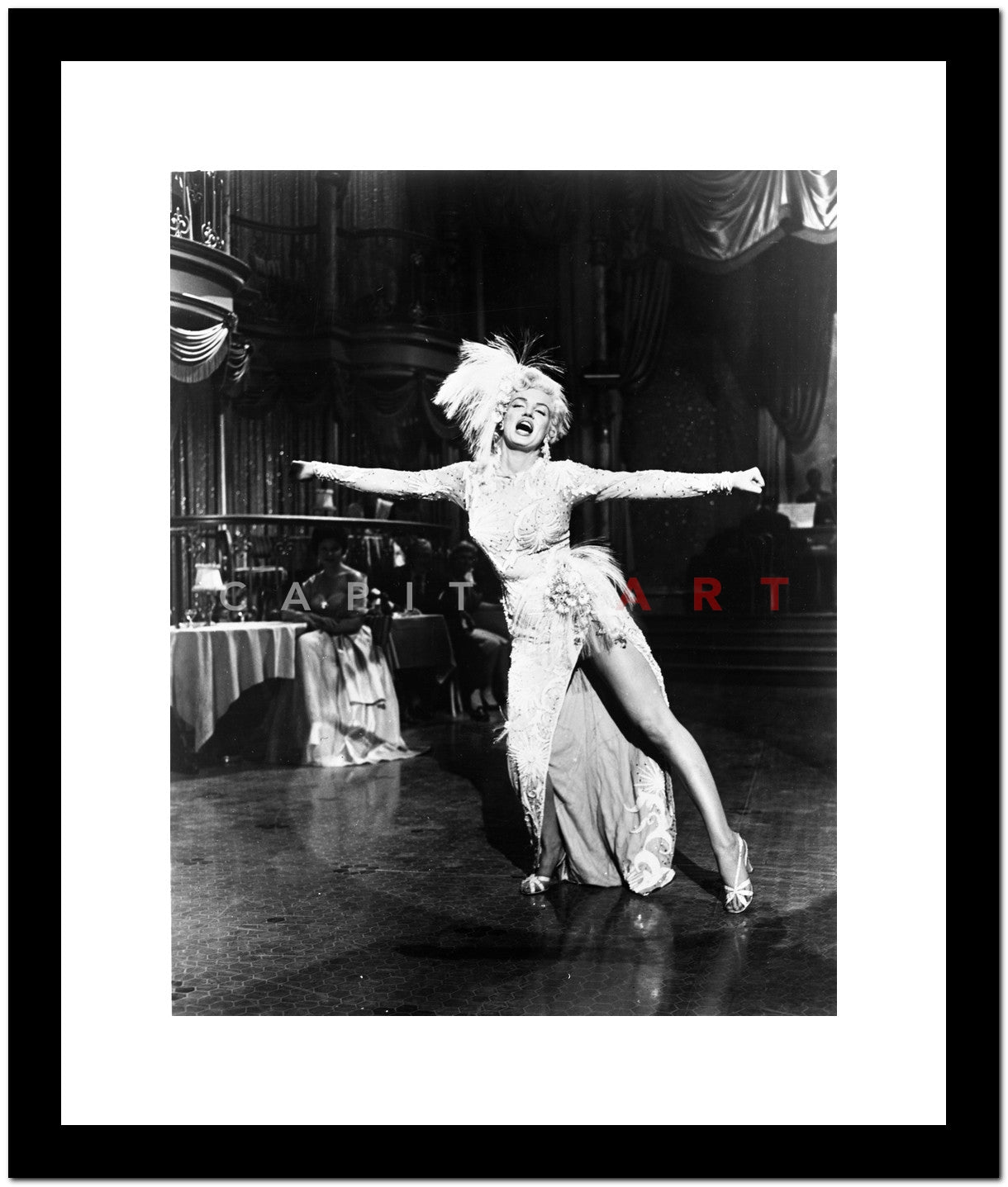 Marilyn Monroe Dancing in White Gown Classic Portrait Premium Art ...