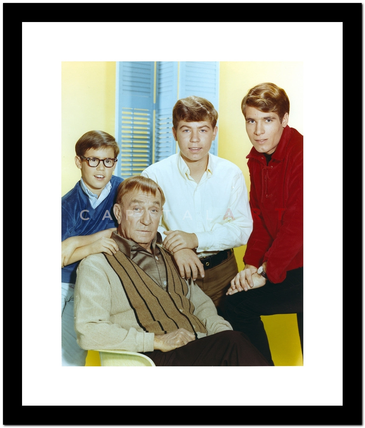 My Three Sons Group Picture in Formal Attire Premium Art Print