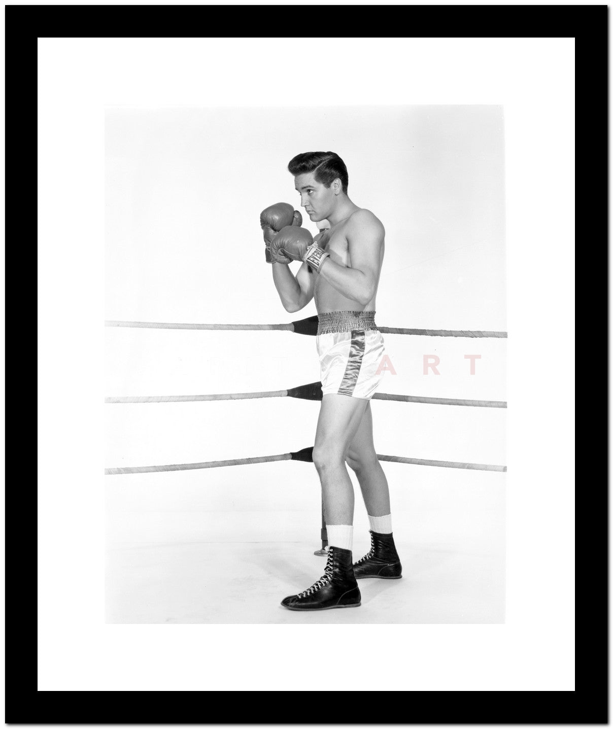 Elvis Presley Posed in Boxing Outfit Premium Art Print – Celebrity Vault