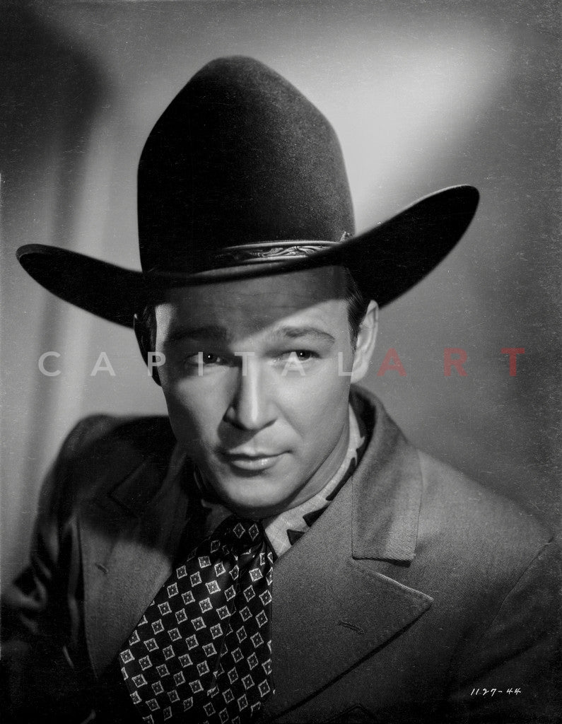Roy Rogers Posed in Suit and Cowboy Hat Premium Art Print – Celebrity Vault 20ff40fcdc2