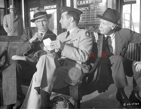 Anatomy Of A Murder Three Men Talking While sitting Outside the Station in Movie Scene in Black and White Premium Art Print